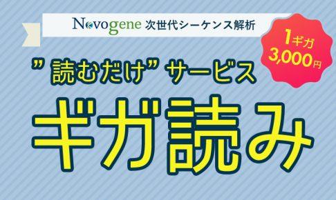 Novogene 次世代シーケンス ギガ読み