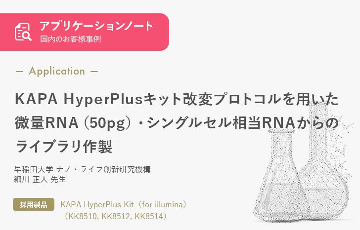 【お客様事例】KAPA HyperPlusキット改変プロトコルを用いた微量RNA (50pg)・シングルセル相当RNAからのライブラリ作製