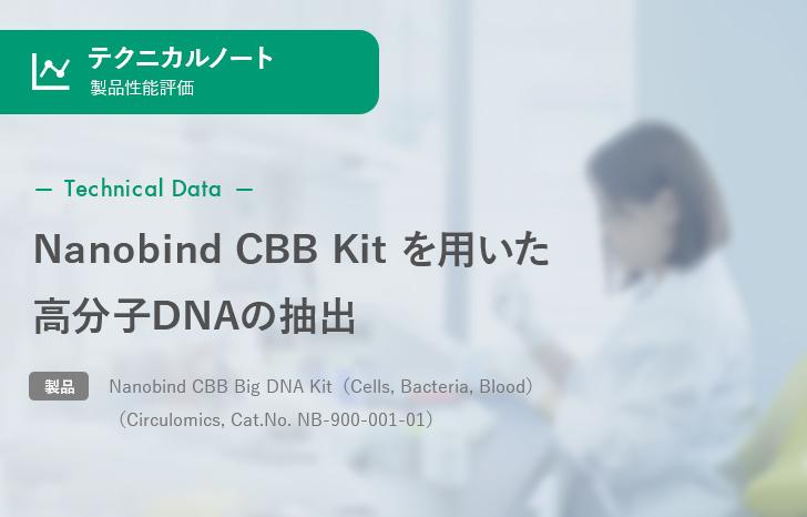 【製品性能評価】Nanobind CBB Kit を用いた高分子DNAの抽出